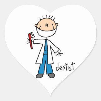 Dentist Stick Figure Heart Sticker