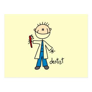 Dentist Stick Figure Postcard