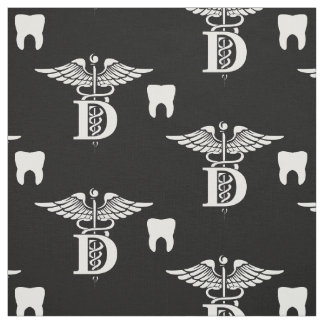 Dentist Symbol & Tooth Black Fabric