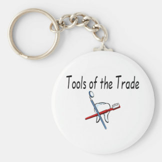 Dentist Tools of the Trade Basic Round Button Key Ring