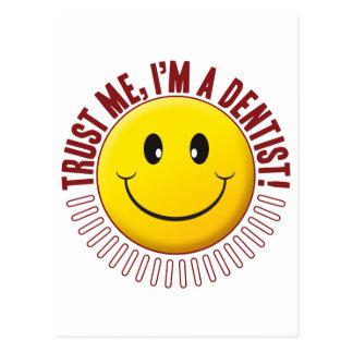 Dentist Trust Smiley Postcard