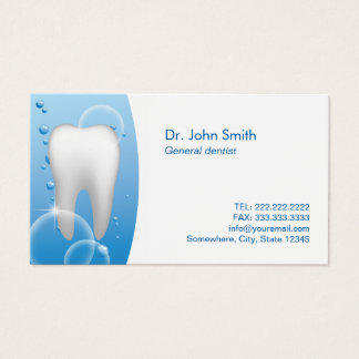 Dentist White Tooth Dental Care Appointment Business Card