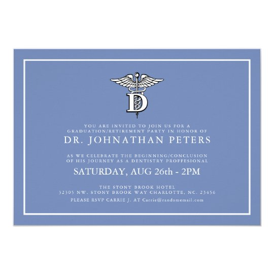 Dentistry Profession Graduation|Retirement Invite