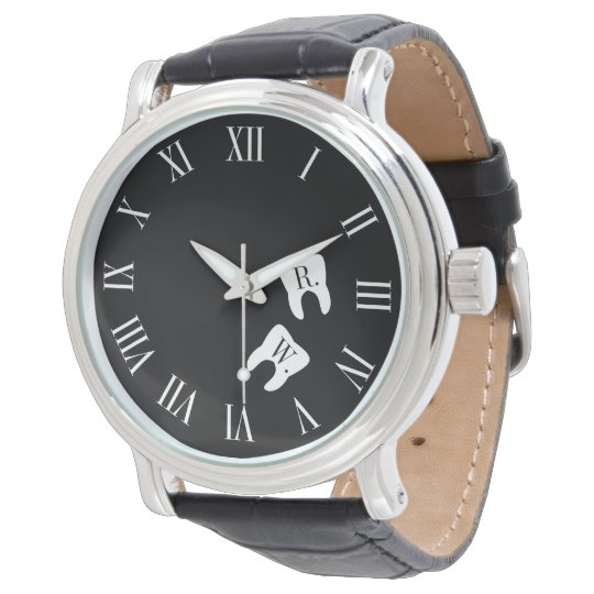 Dentistry Professional Custom Molar Initials Watch