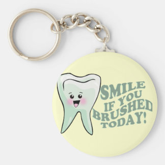 Dentists and Dental Hygienists Basic Round Button Key Ring