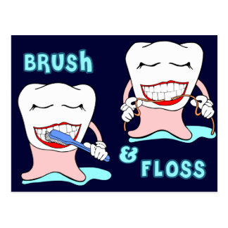 Dentists and dental hygienists humor postcard