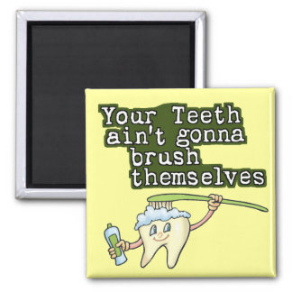 Dentists and Hygienists Square Magnet