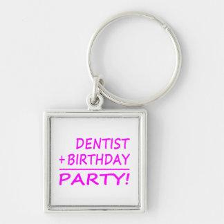 Dentists Birthdays : Dentist + Birthday = Party Keychain