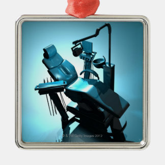 Dentist's chair, computer artwork. christmas ornament
