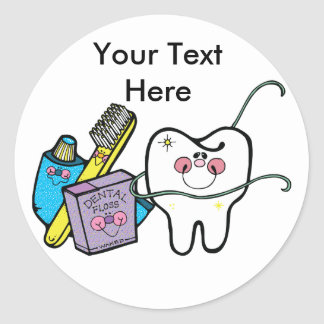 Dentist's Day March 6 Classic Round Sticker