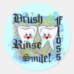 Dentists Dental Professionals Round Sticker