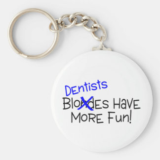 Dentists Have More Fun Basic Round Button Key Ring