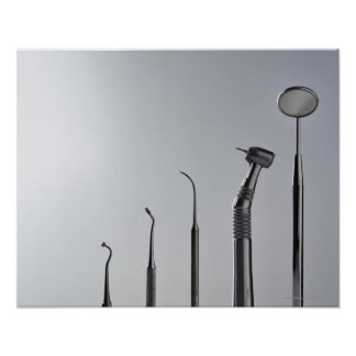 Dentist's instruments poster