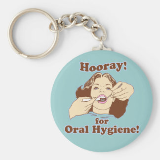 Dentists Orthodontist Periodontist Basic Round Button Key Ring