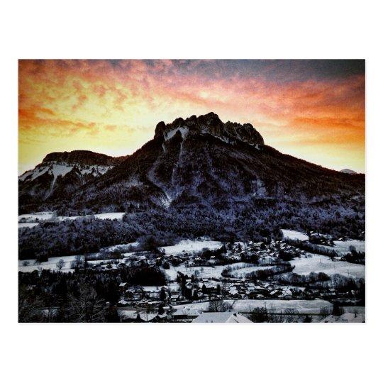 Dents de Lanfon, French Alps Postcard