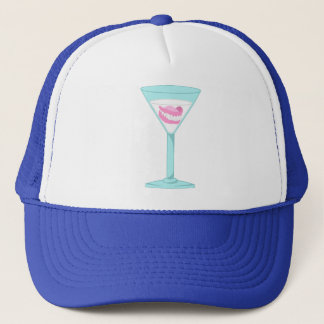 Dentures False Teeth Martini Trucker Hat