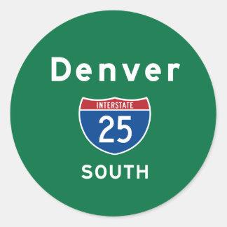 Denver 25 classic round sticker