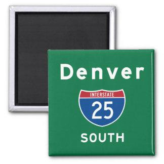 Denver 25 square magnet
