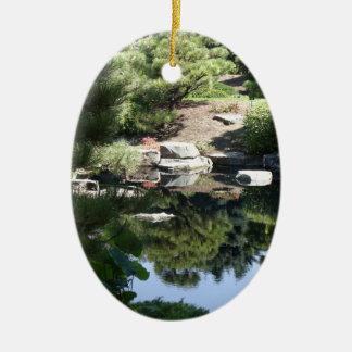 Denver Botanic Japanese Garden Reflections Ceramic Oval Decoration