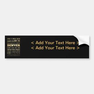 Denver City of Colorado State Typography Art Bumper Sticker