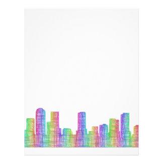 Denver city skyline 21.5 cm x 28 cm flyer