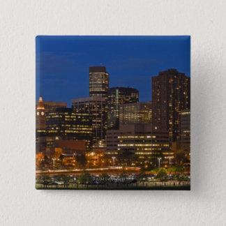 Denver Cityscape 15 Cm Square Badge