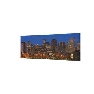 Denver Cityscape Stretched Canvas Prints