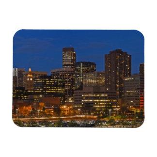 Denver Cityscape Rectangle Magnets