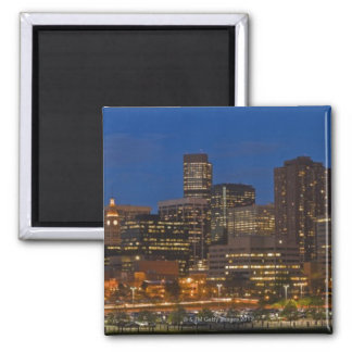Denver Cityscape Square Magnet
