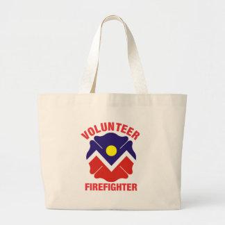 Denver, CO Flag Volunteer Firefighter Cross Jumbo Tote Bag