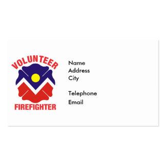 Denver, CO Flag Volunteer Firefighter Cross Pack Of Standard Business Cards
