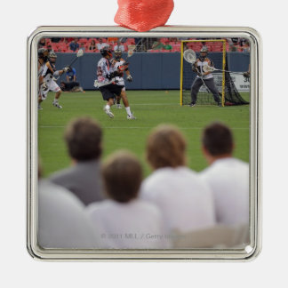 DENVER, CO - JULY 16:  Fans take in the action Christmas Ornament