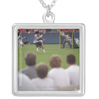 DENVER, CO - JULY 16:  Fans take in the action Silver Plated Necklace