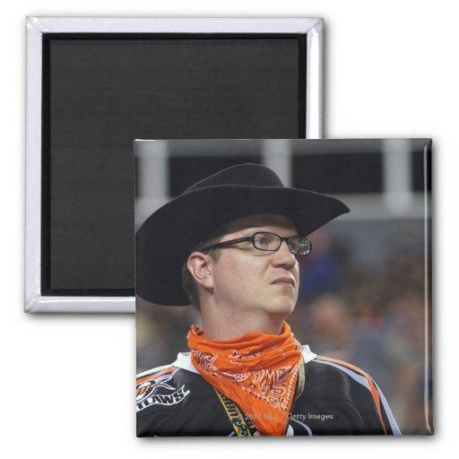 DENVER, CO - JULY 3: A Denver Outlaws fan didn't Refrigerator Magnet