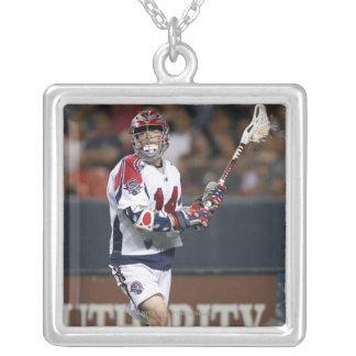 DENVER, CO - JULY 3: Ryan Boyle #14 Silver Plated Necklace