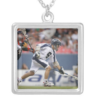 DENVER, CO - JUNE 11: Andrew Hennessey #40 2 Silver Plated Necklace