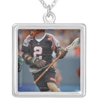 DENVER, CO - JUNE 25:  Brendan Mundorf #2 3 Silver Plated Necklace