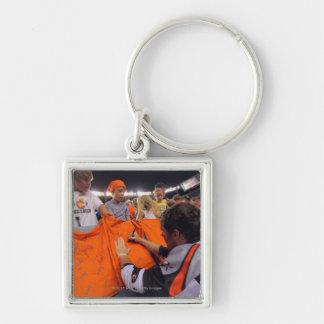 DENVER, CO - JUNE 25:  Matt Bocklet #7 Silver-Colored Square Key Ring
