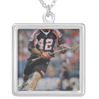 DENVER, CO - JUNE 25:  Max Seibald #42 Silver Plated Necklace