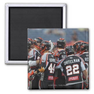 DENVER, CO - JUNE 25:  The Denver Outlaws huddle Magnet