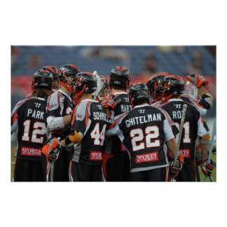 DENVER, CO - JUNE 25:  The Denver Outlaws huddle Poster