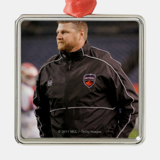 DENVER, CO - MAY 14:  Head coach Regy Thorpe Silver-Colored Square Decoration