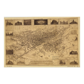 Denver Colorado 1881 Panoramic Map Poster
