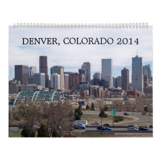 Denver, Colorado 2014 Wall Calendar