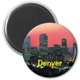 Denver colorado 6 cm round magnet