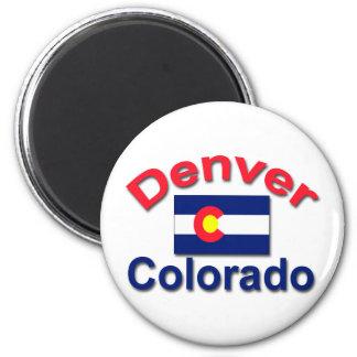 Denver, Colorado 6 Cm Round Magnet