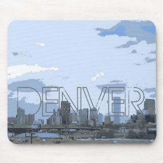 Denver Colorado artistic skyline mousepad
