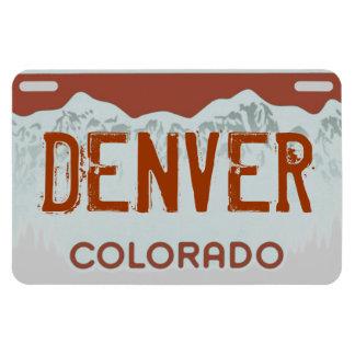 Denver Colorado brown license plate magnet