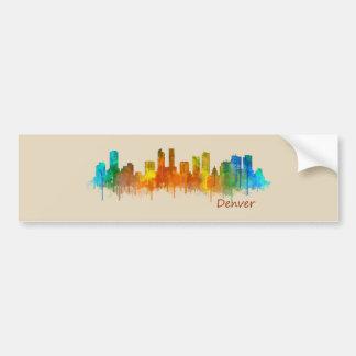 Denver Colorado City Skyline v02b Bumper Sticker