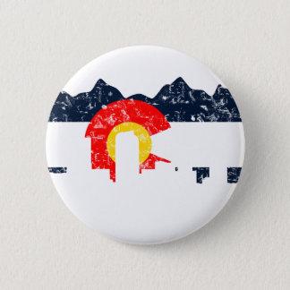 Denver Colorado Flag 6 Cm Round Badge